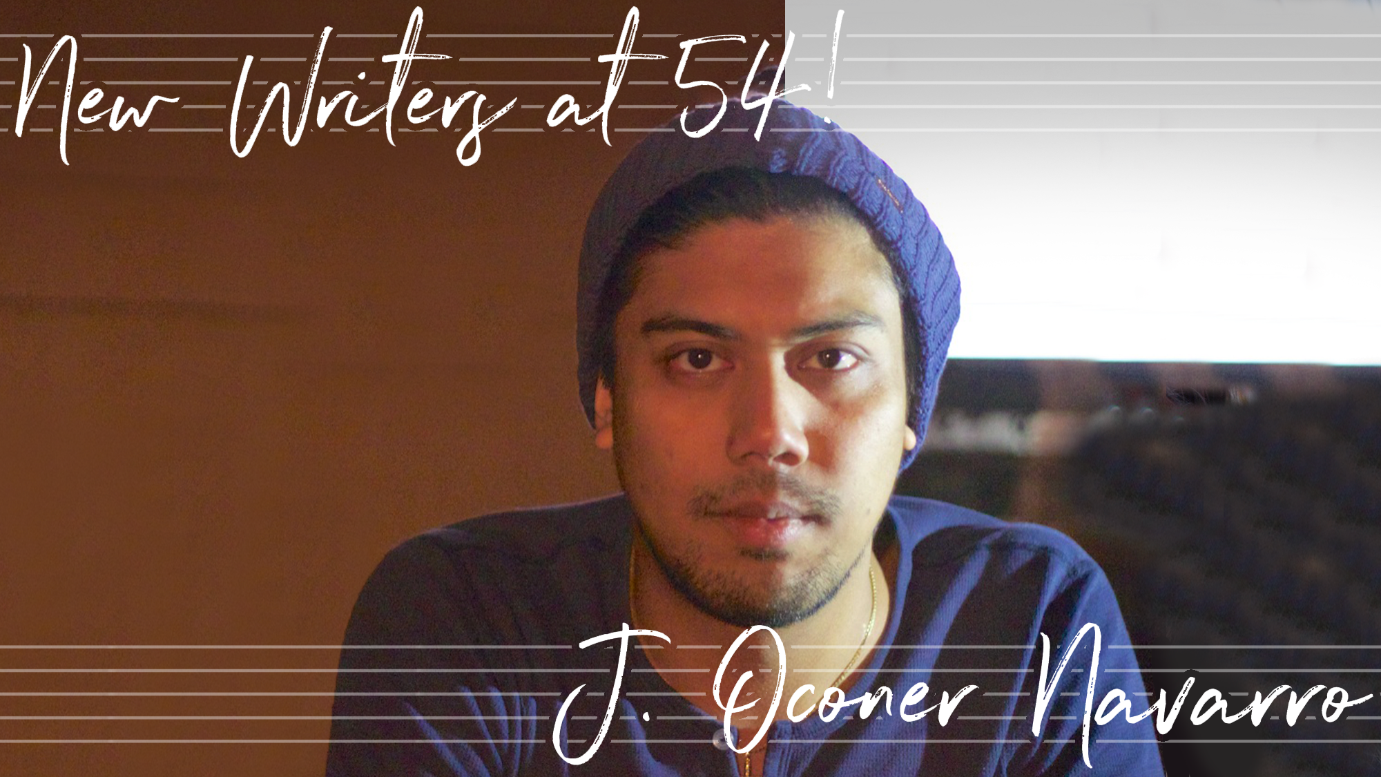 New Writers at 54! J. Oconer Navarro